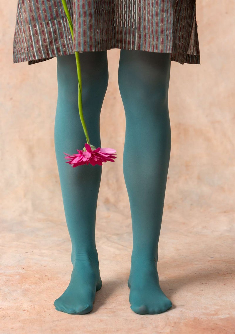 Tights in recycled nylon verona green/herb green
