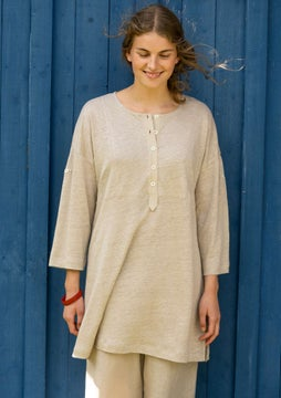 Linnen tuniek dark natural