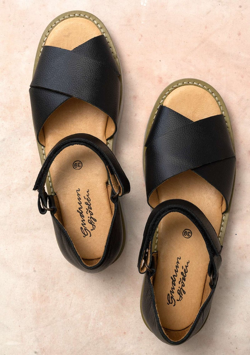 Sandal in nappa black