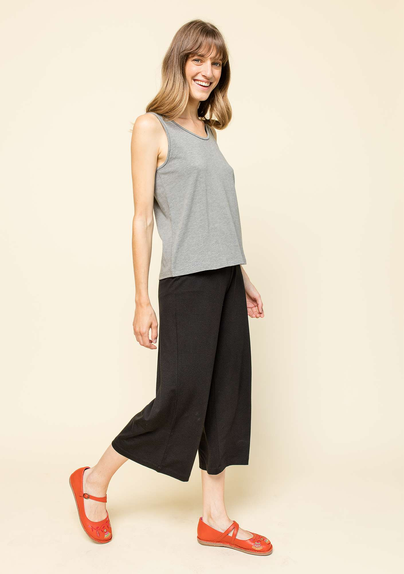 Trousers in lyocell/elastane black