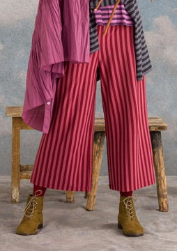 Striped trousers agate red/fig