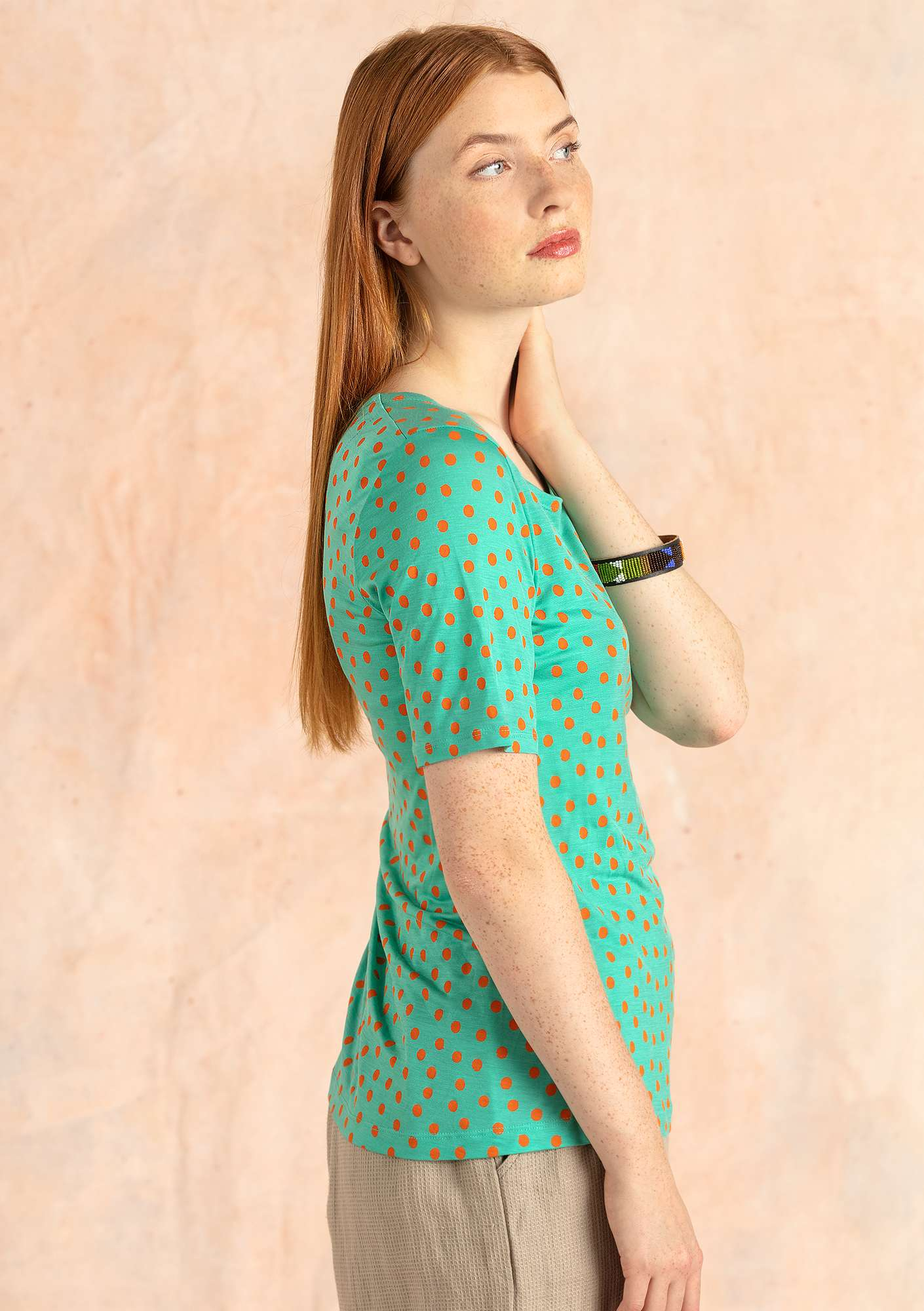 """Julia"" lyocell top light oriental green"