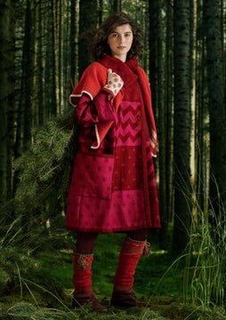 Siljan coat dark hibiscus