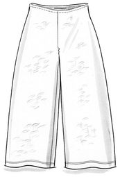 Jersey pants in organic cotton