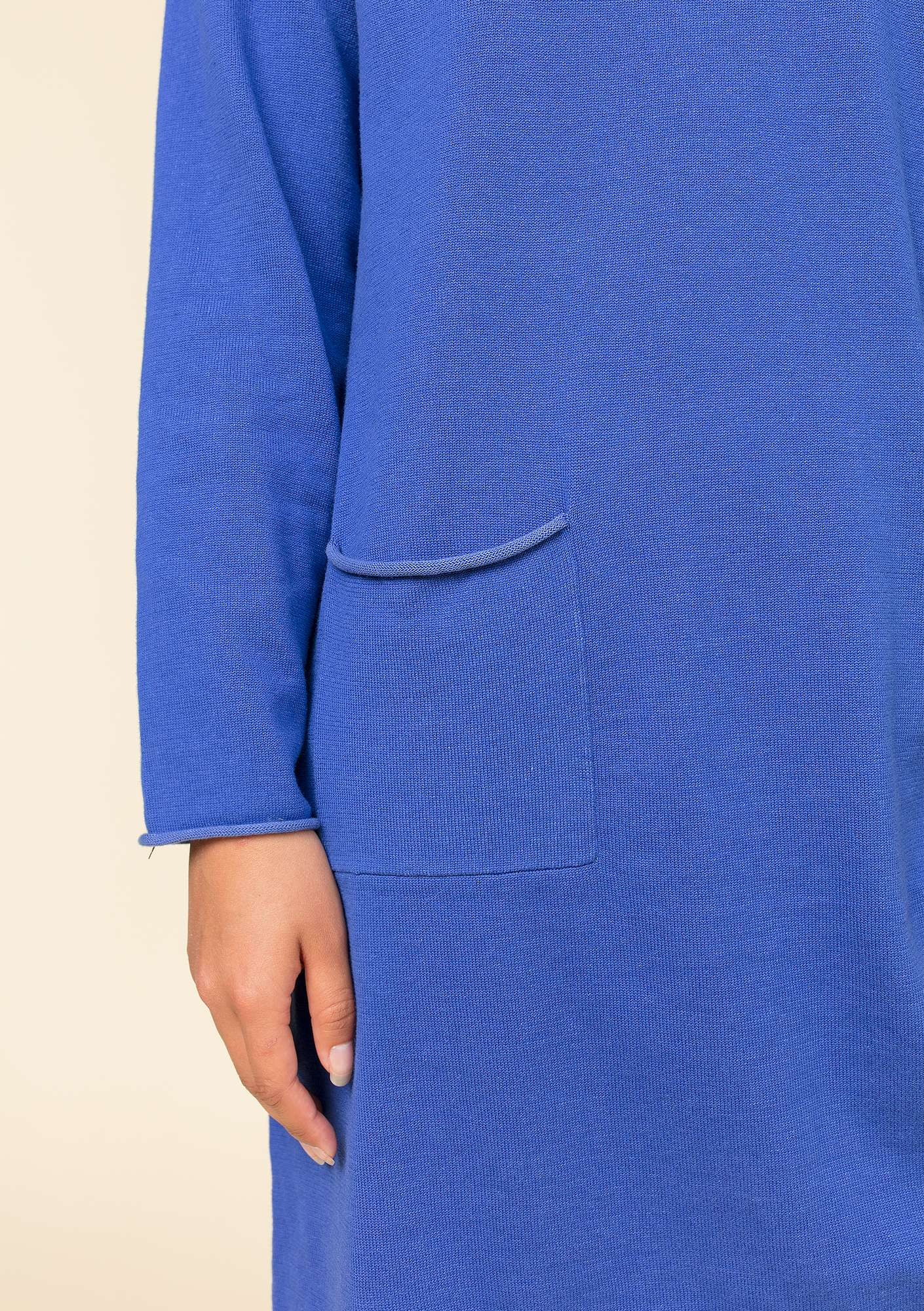 Plated tunic in organic cotton klein blue