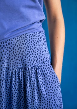 Dripp skirt midnight blue/patterned