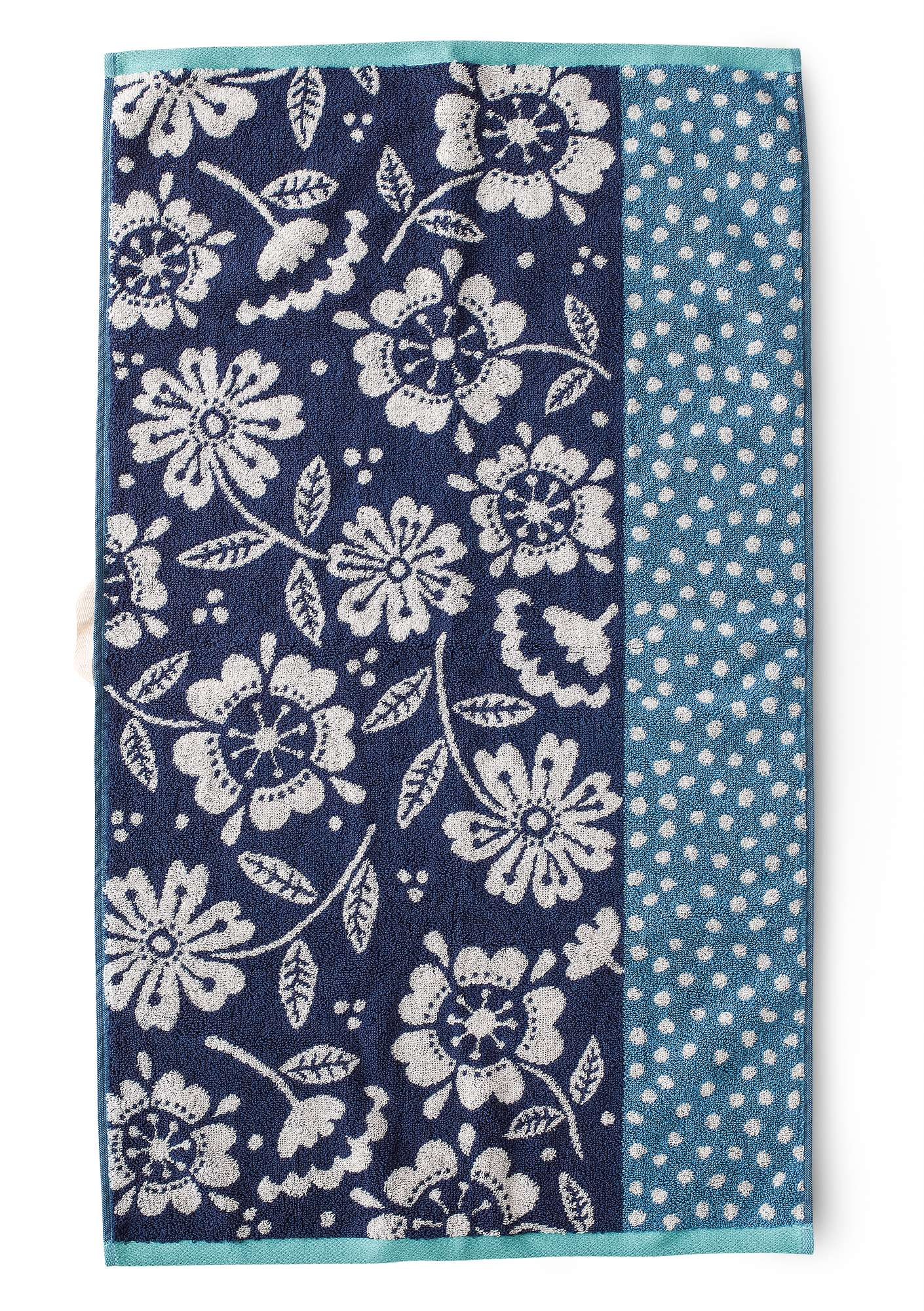 """Okinawa"" organic cotton hand towel sea blue"