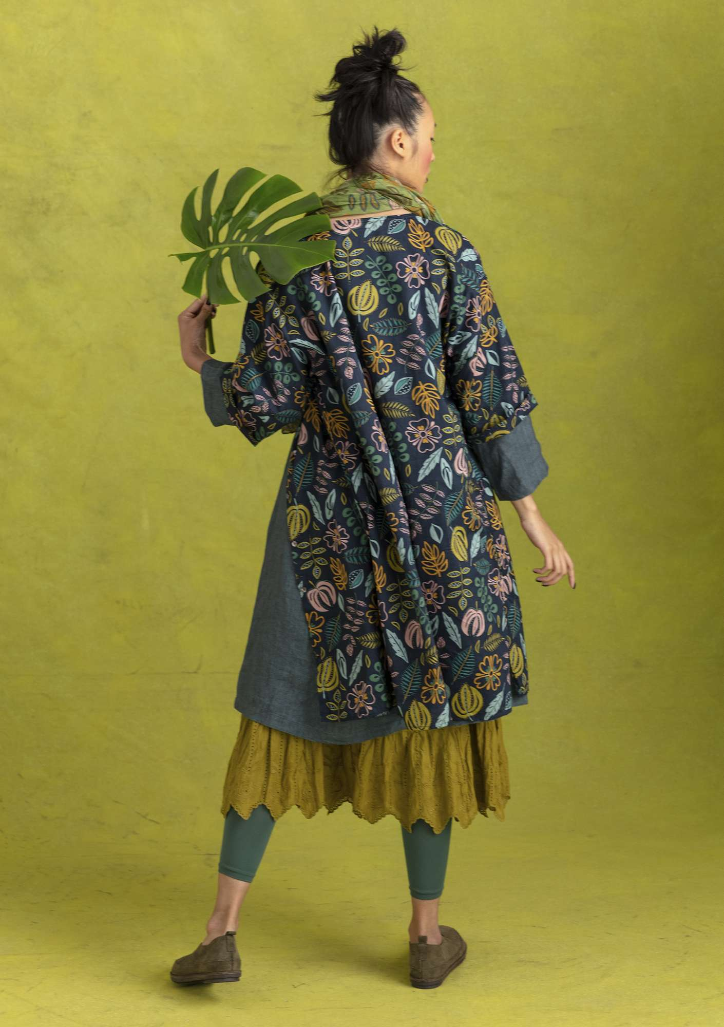 """Rigmor"" organic cotton dress blue/patterned"
