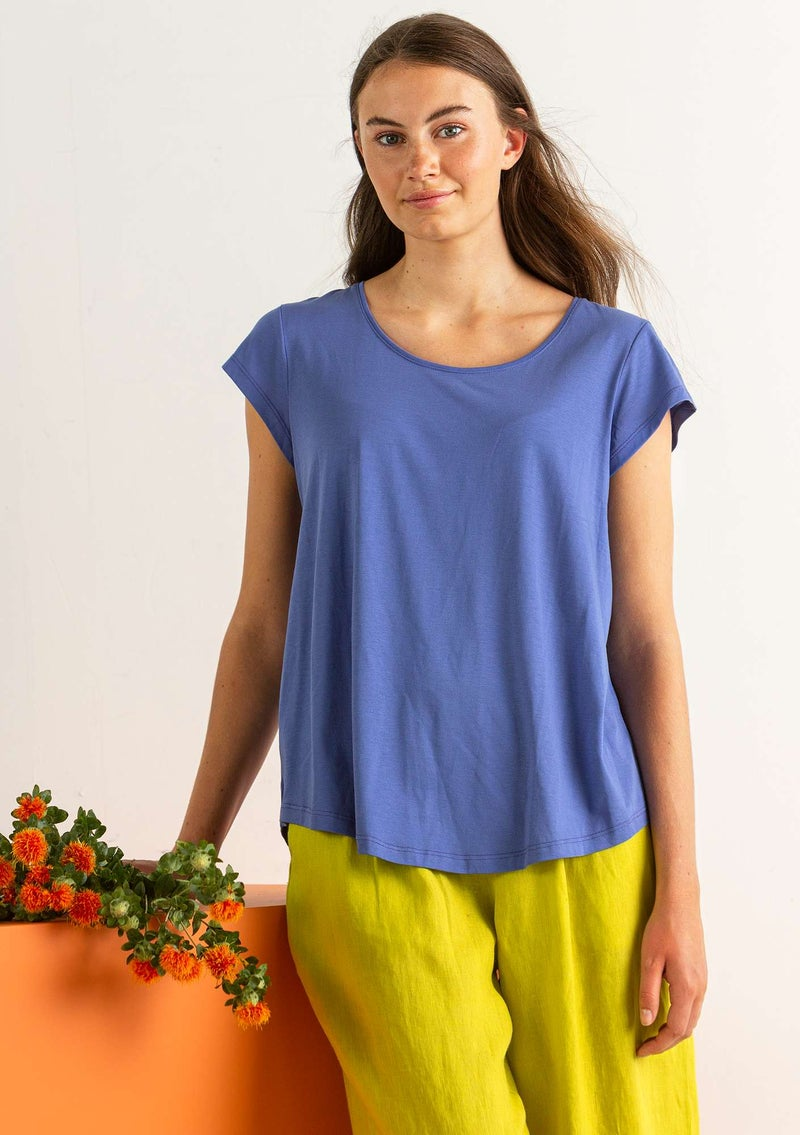 """Himmel"" organic cotton/modal top  sky blue"