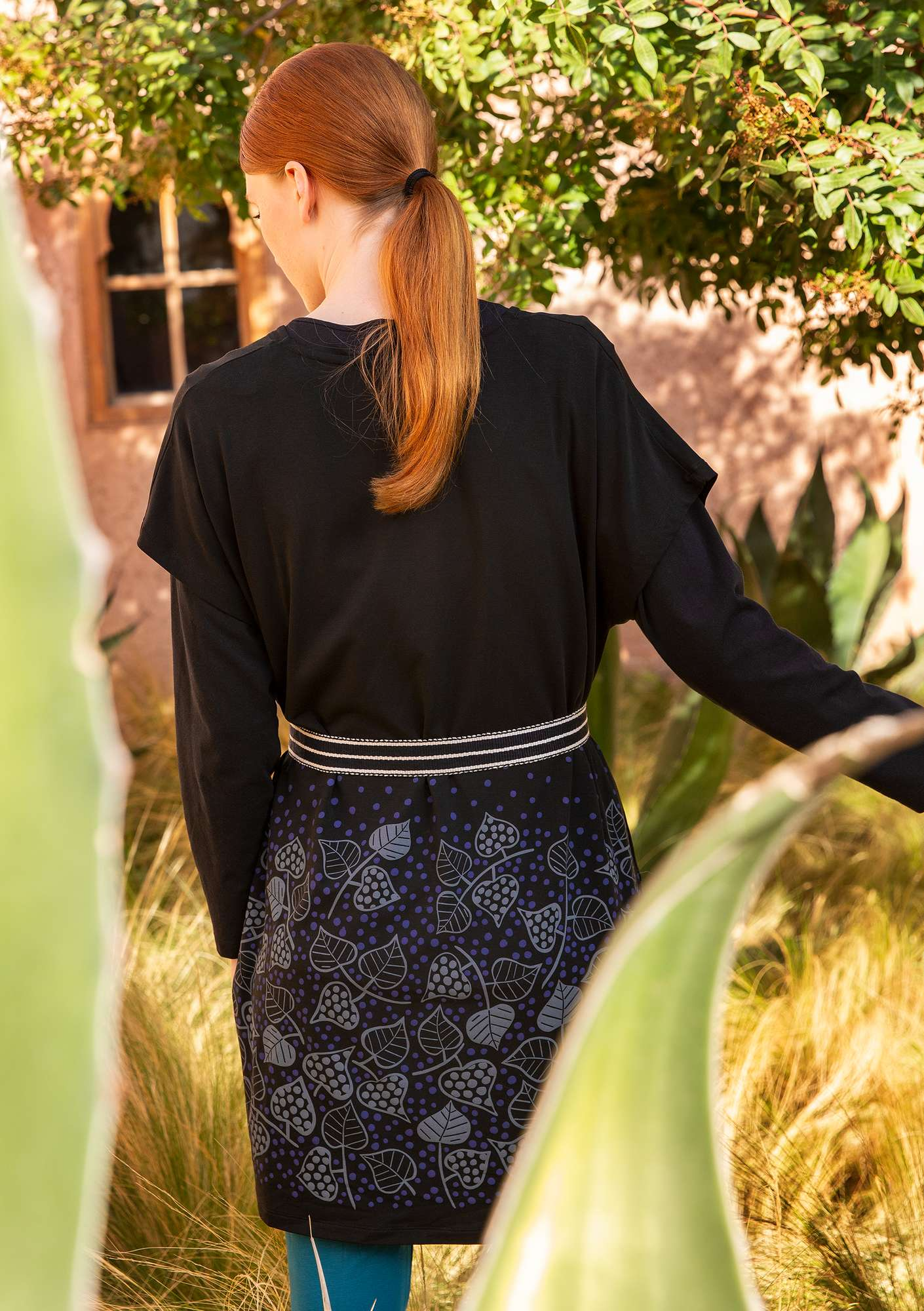 """Autumn"" tunic in lyocell/elastane black"