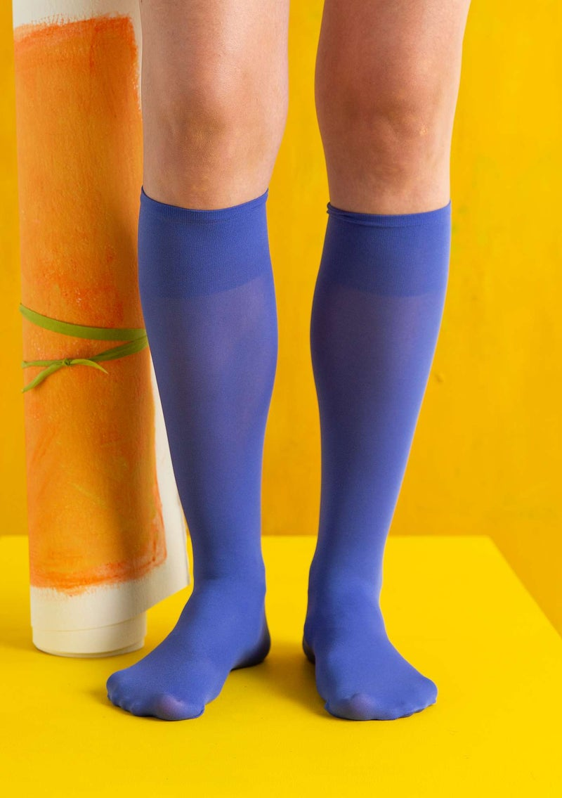 Knee-highs in recycled nylon lupine