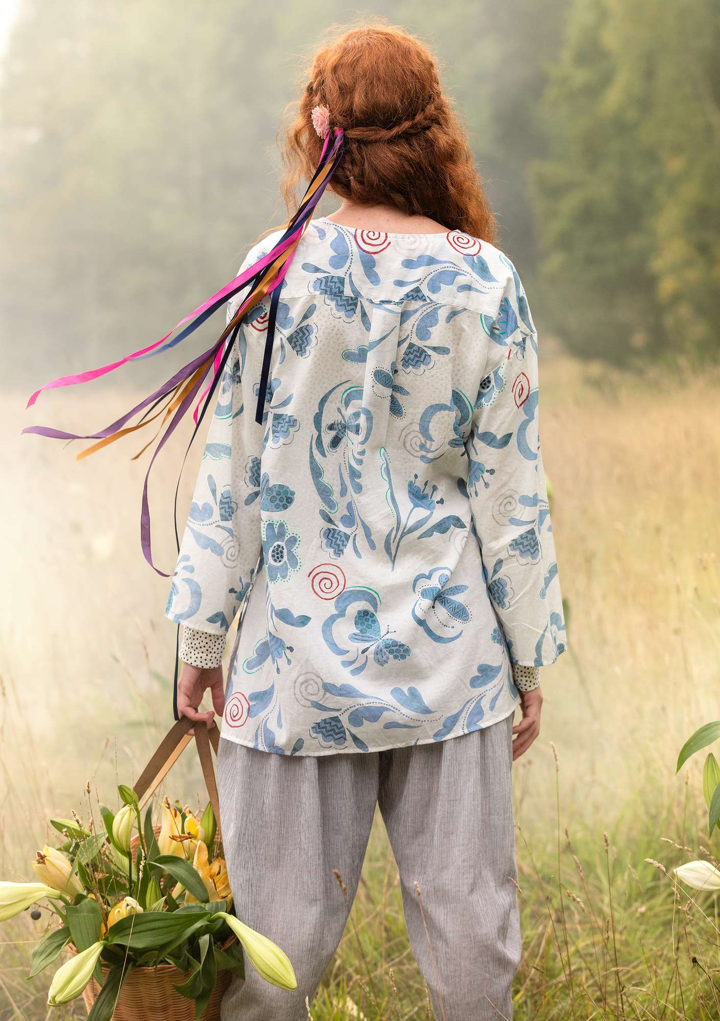 """Dragonfly"" organic cotton tunic indigo"