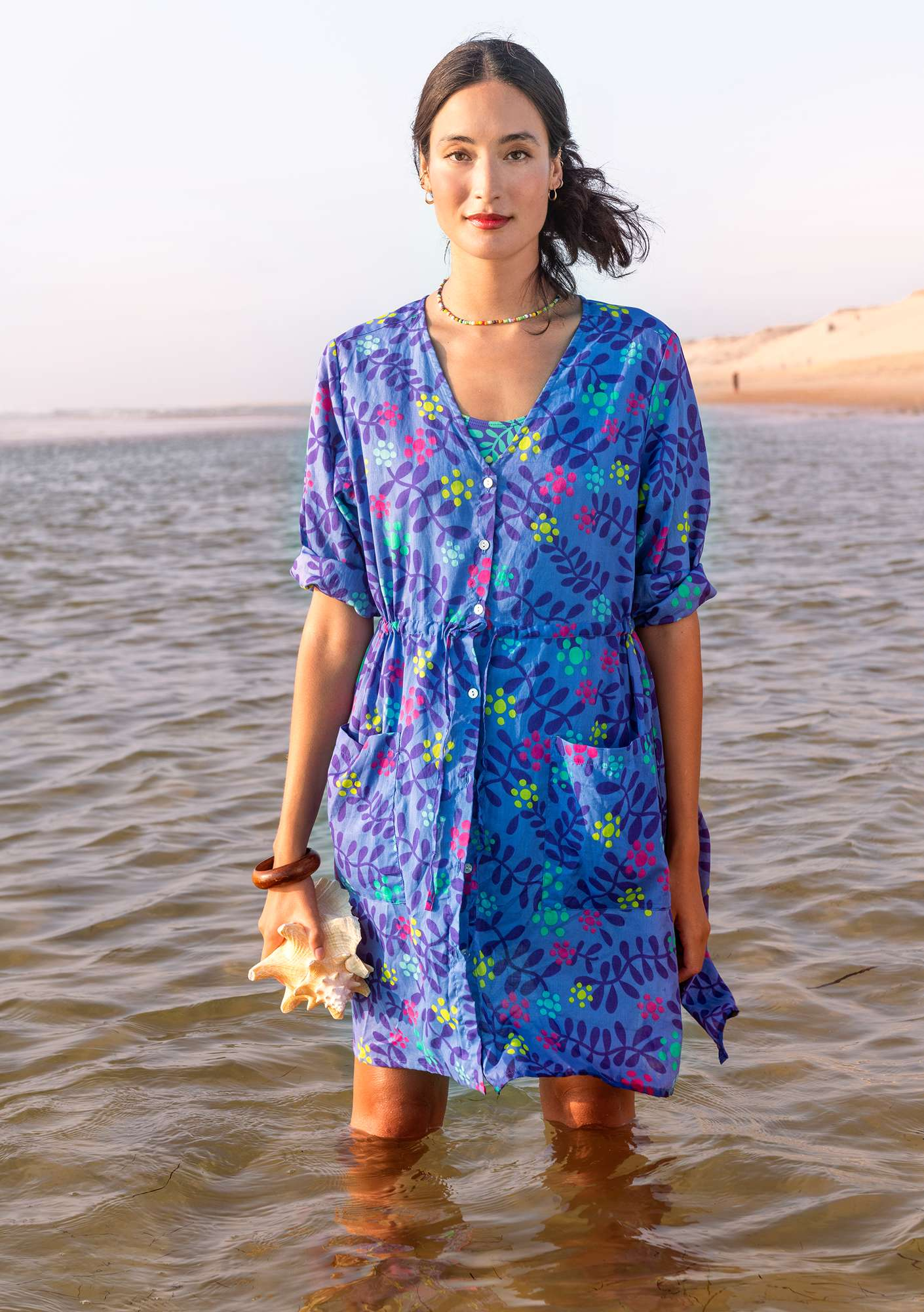 Waterlily tunic sky blue