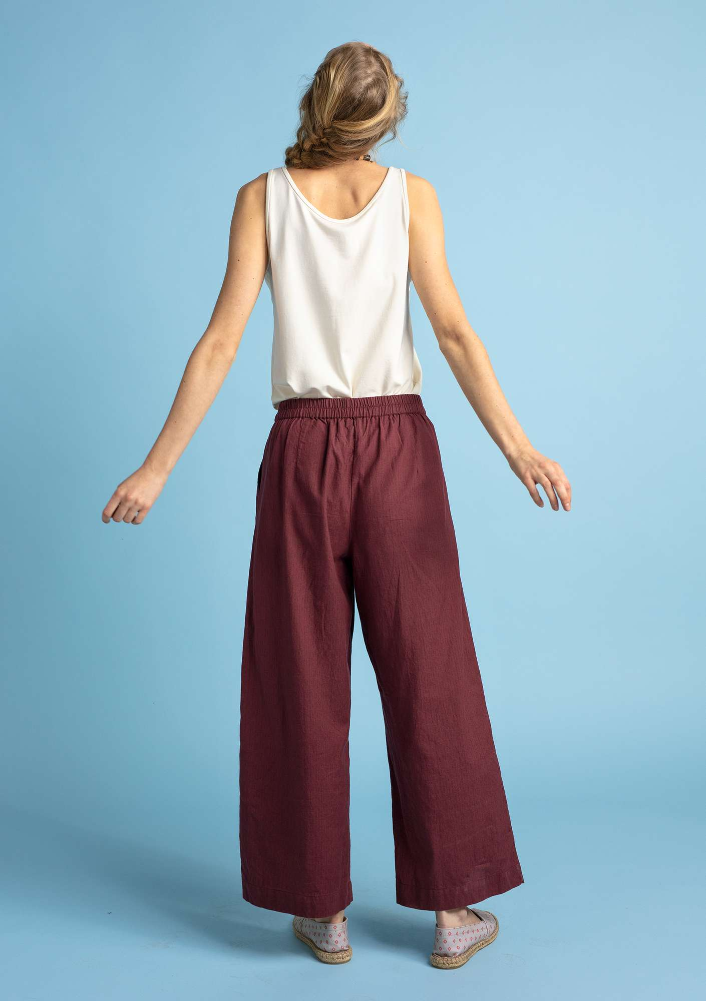 Organic cotton trousers beetroot