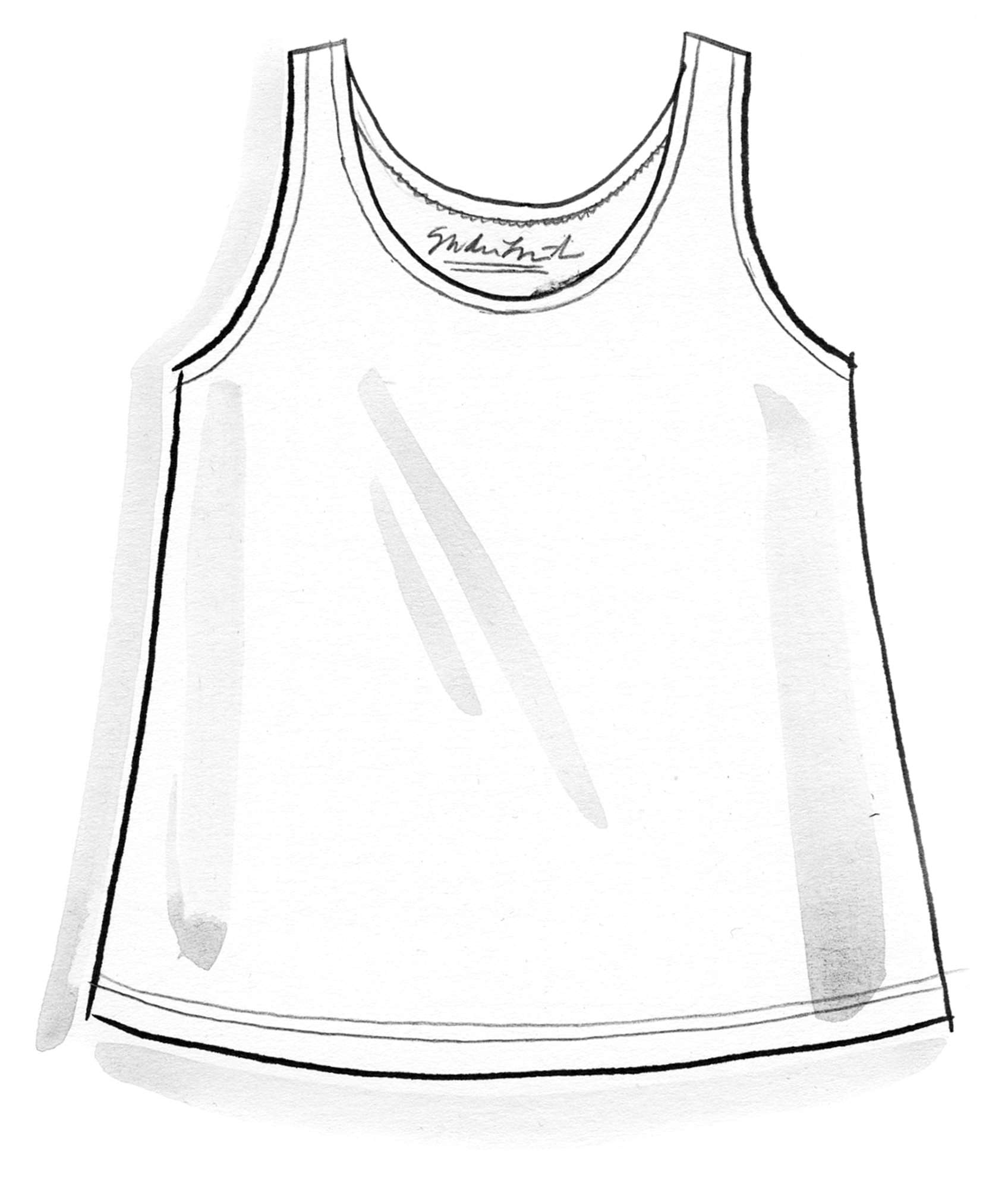 """Confetti"" tank top in fine organic cotton"