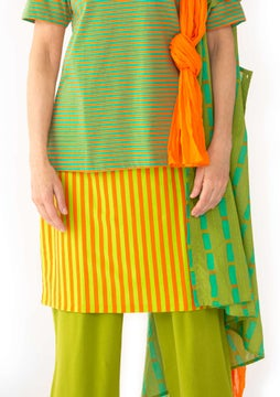 Striped skirt nectar/tropical green