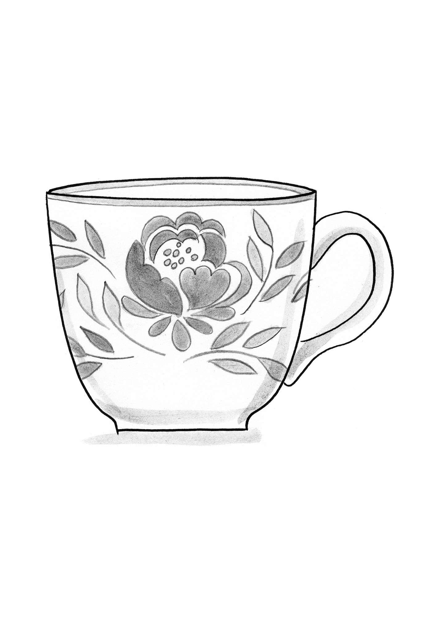 Roza Ceramic Tea Mug Gudrun Sjoden