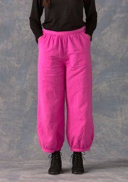 Solid-colour trousers dark peony