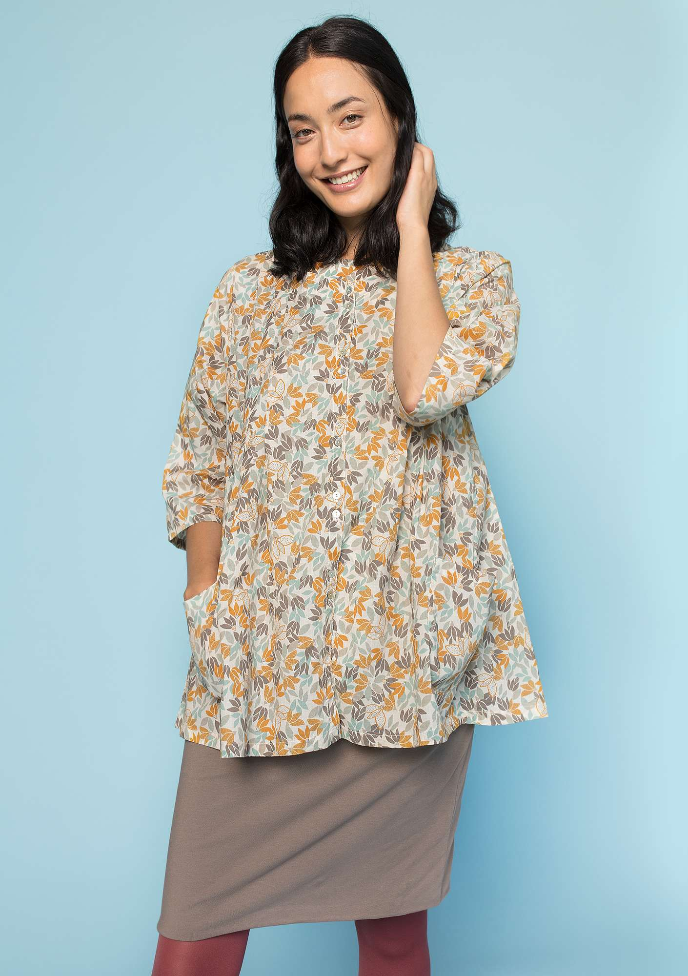 """Minerva"" eco-cotton blouse eggshell"