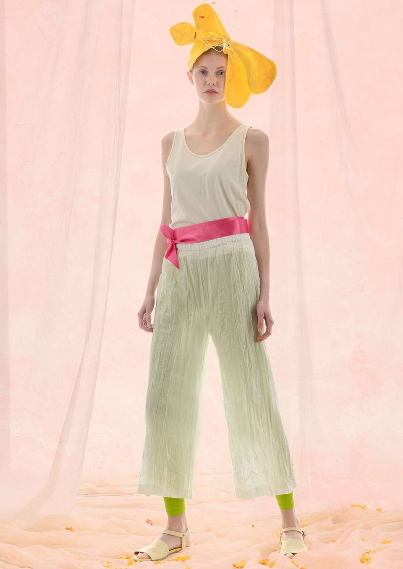 """Fantasia"" organic cotton trousers light ecru"