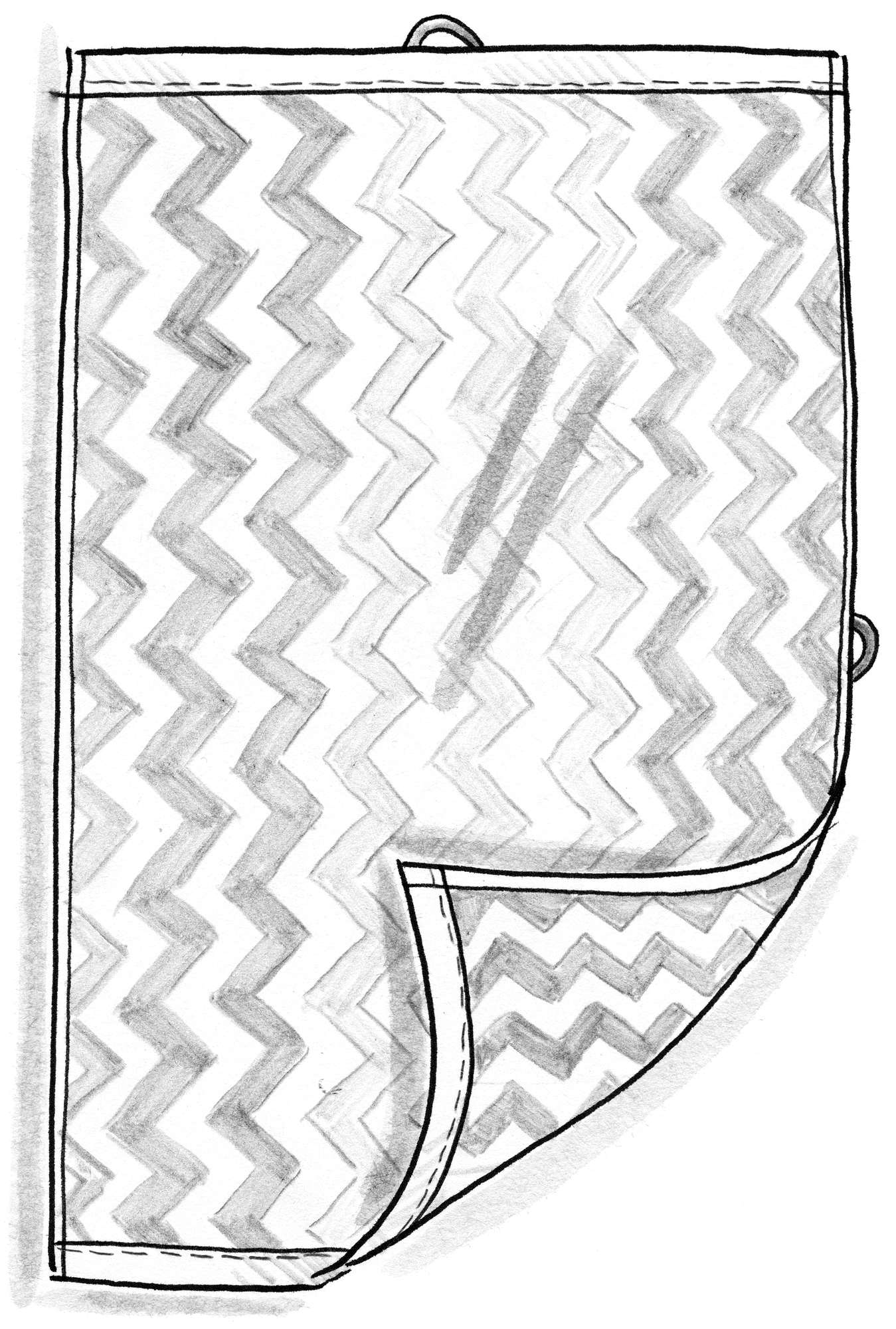"""Skvalp"" hand towel in eco-cotton"