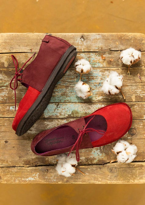 Lace-ups agate red