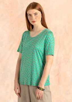 Julia top light oriental green