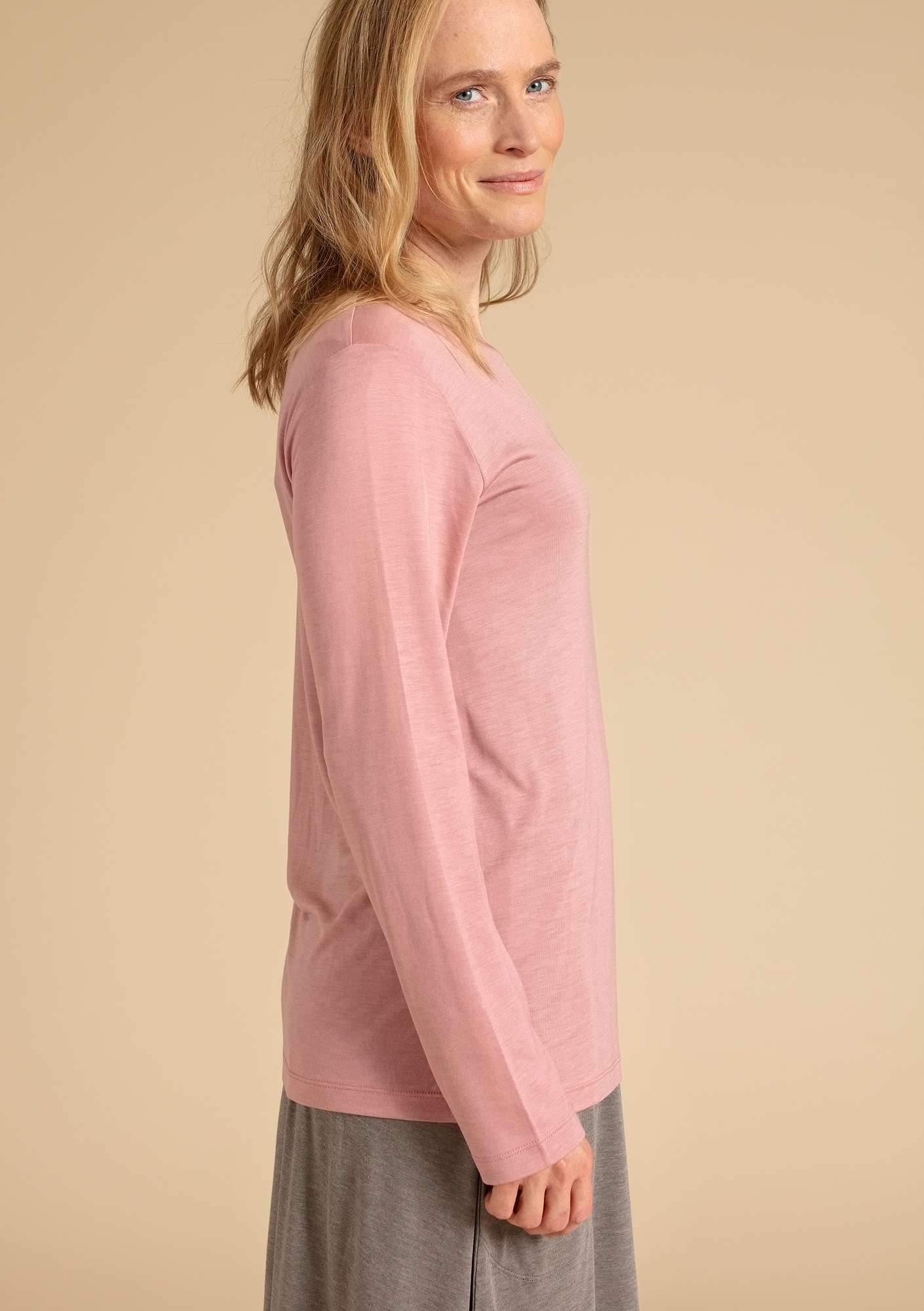 """Twinkle"" top in modal dusky pink"