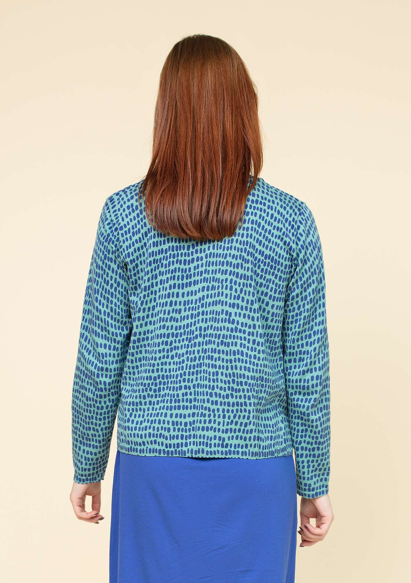 """Ninna"" cardigan in eco-cotton jade"
