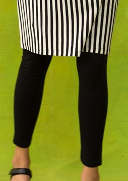 Solid-colour leggings black