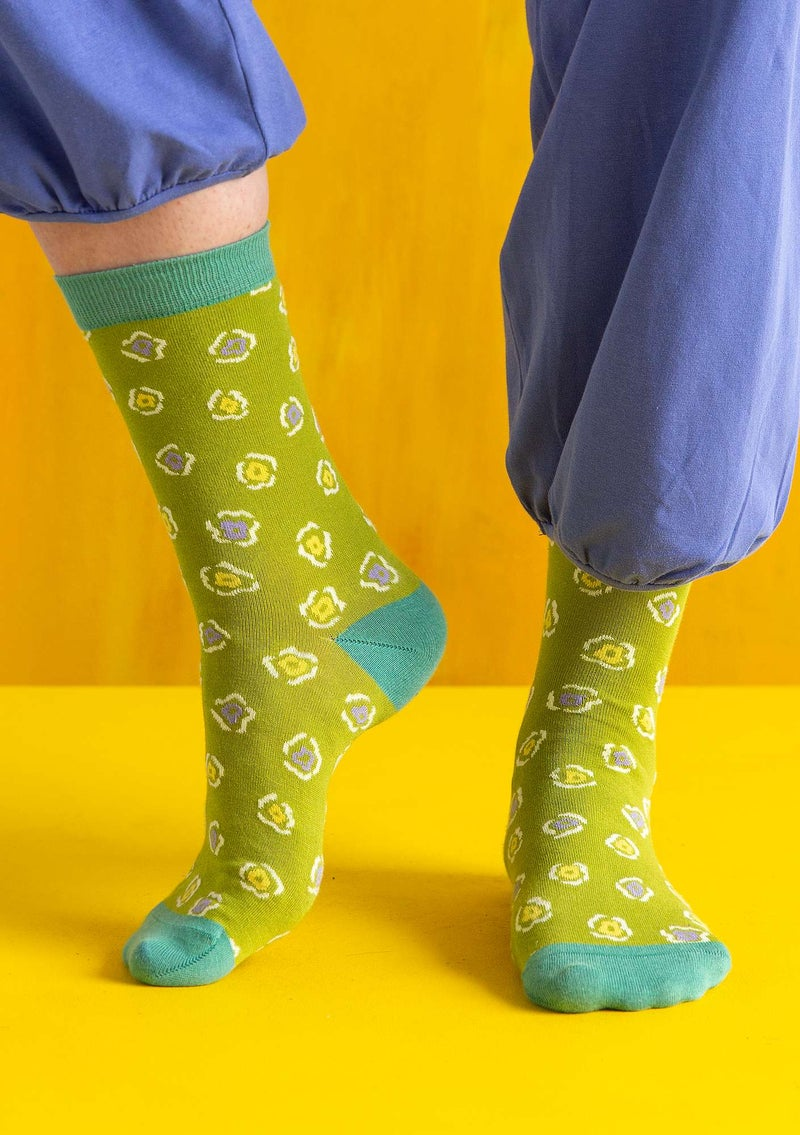 """Himmel"" organic cotton socks kiwi"
