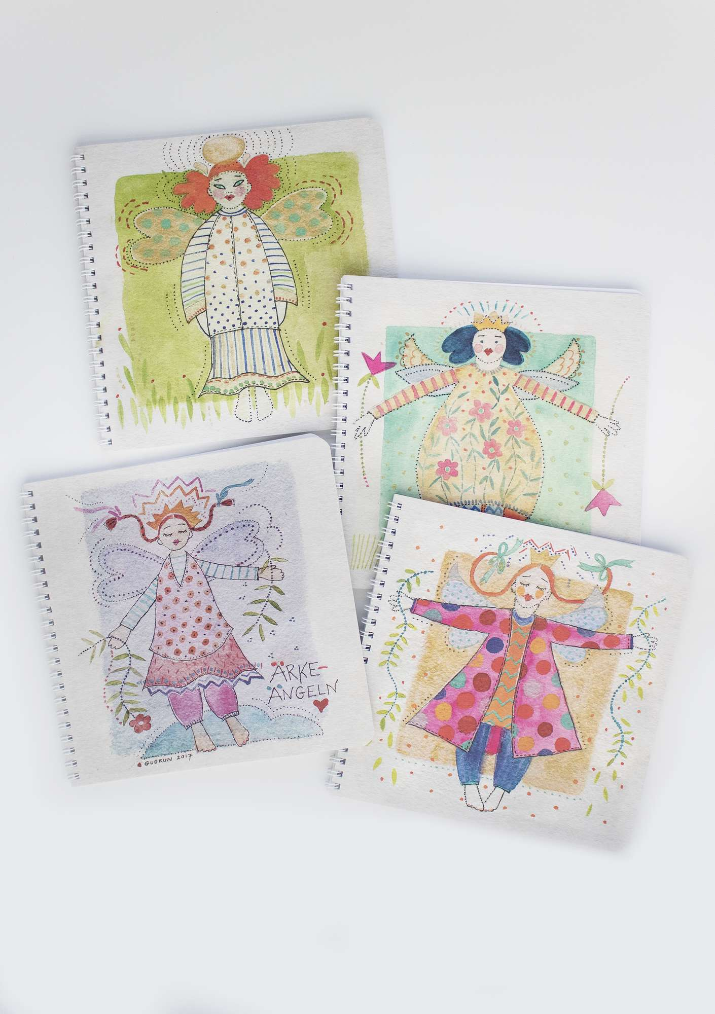 Ängel notebook multicoloured