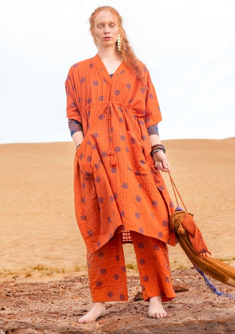 Thar dress burnt orange