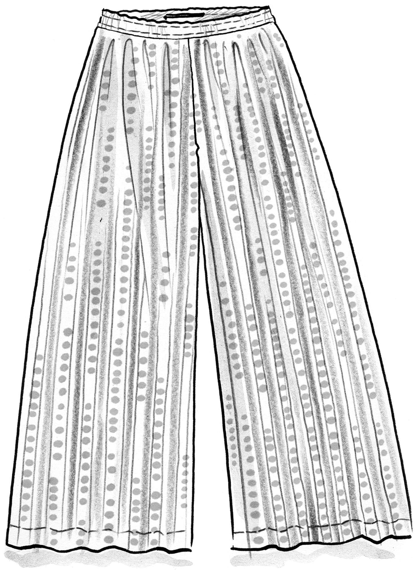 """Bindi"" wide-legged trousers in organic cotton"