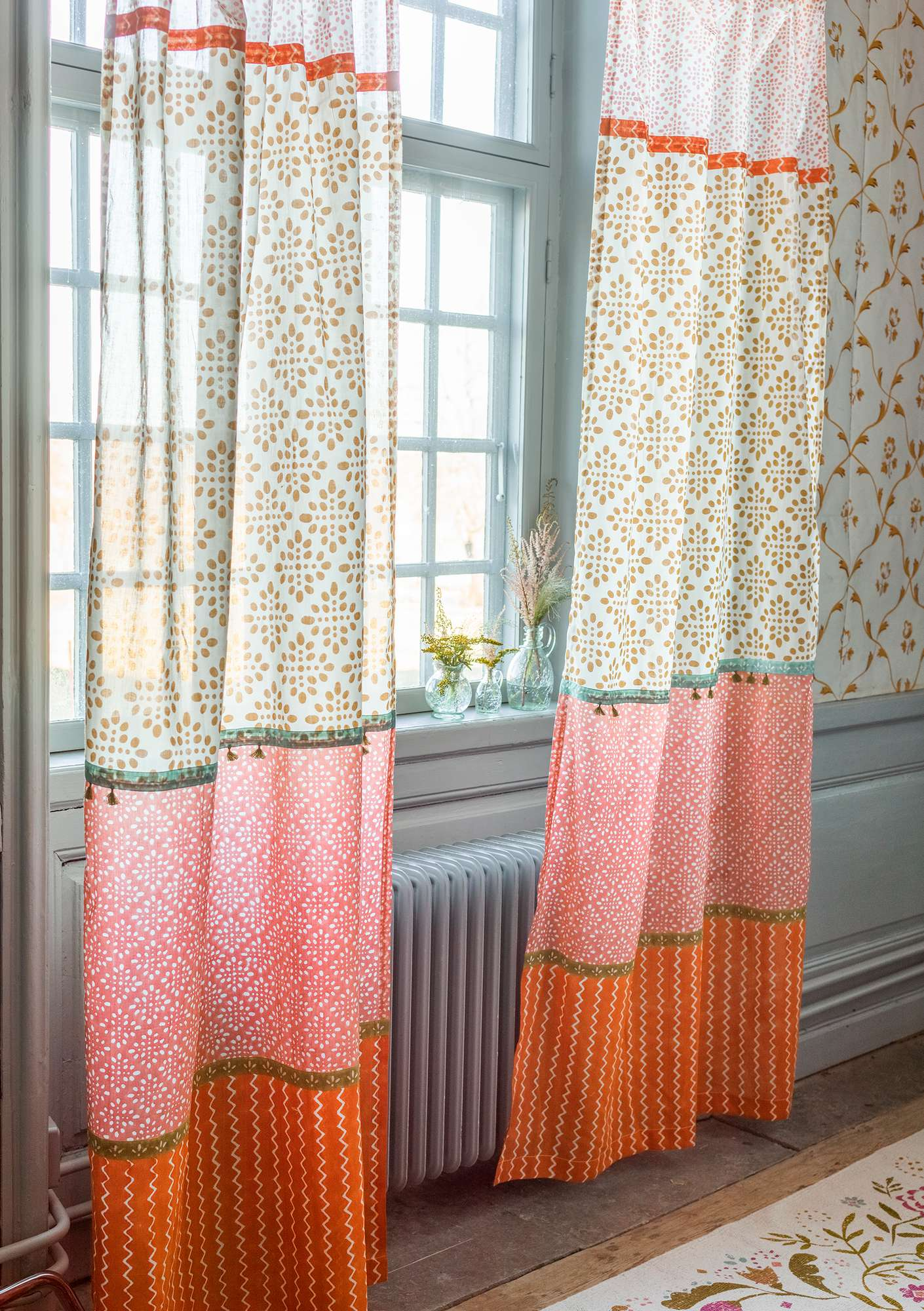 """Amita"" organic cotton curtain ochre"