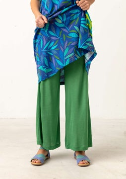 Solid-colour trousers basil