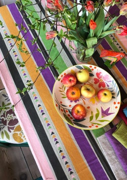 Santa Fe tablecloth natural