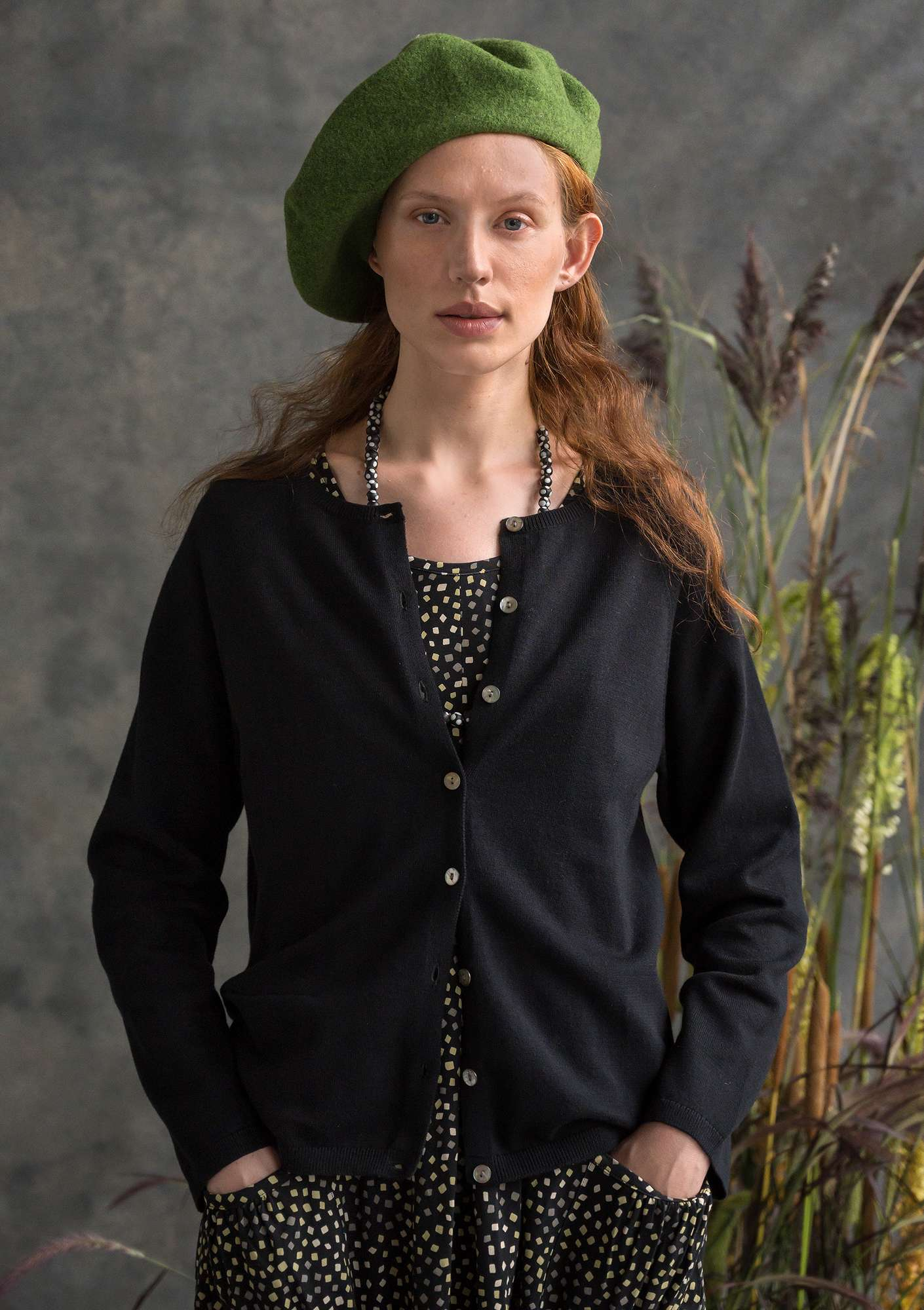 Brilliant organic cotton cardigan black