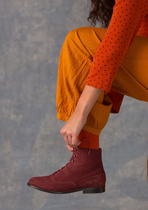 Bottines rétro Petrovska agate red