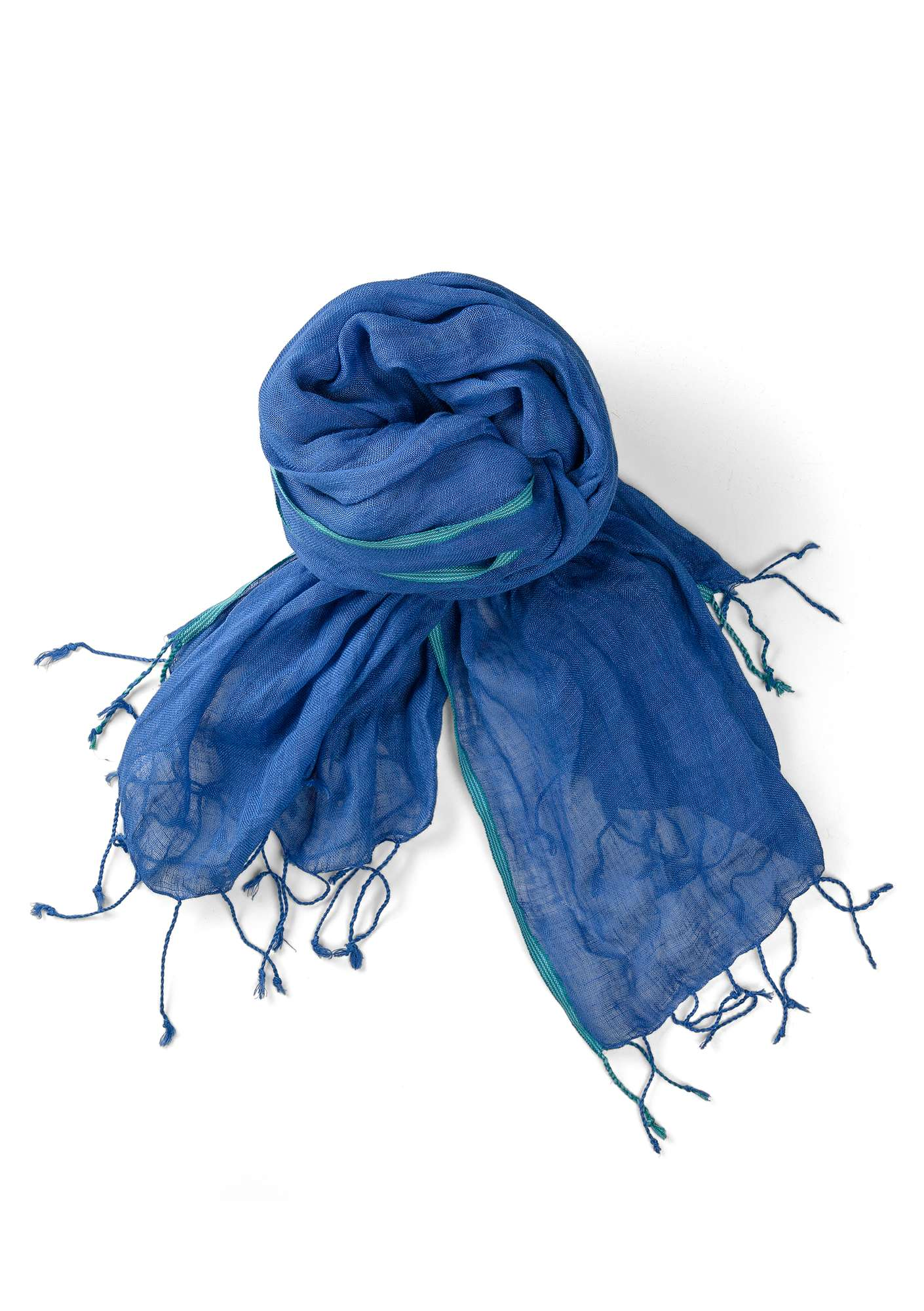 Linen shawl cornflower