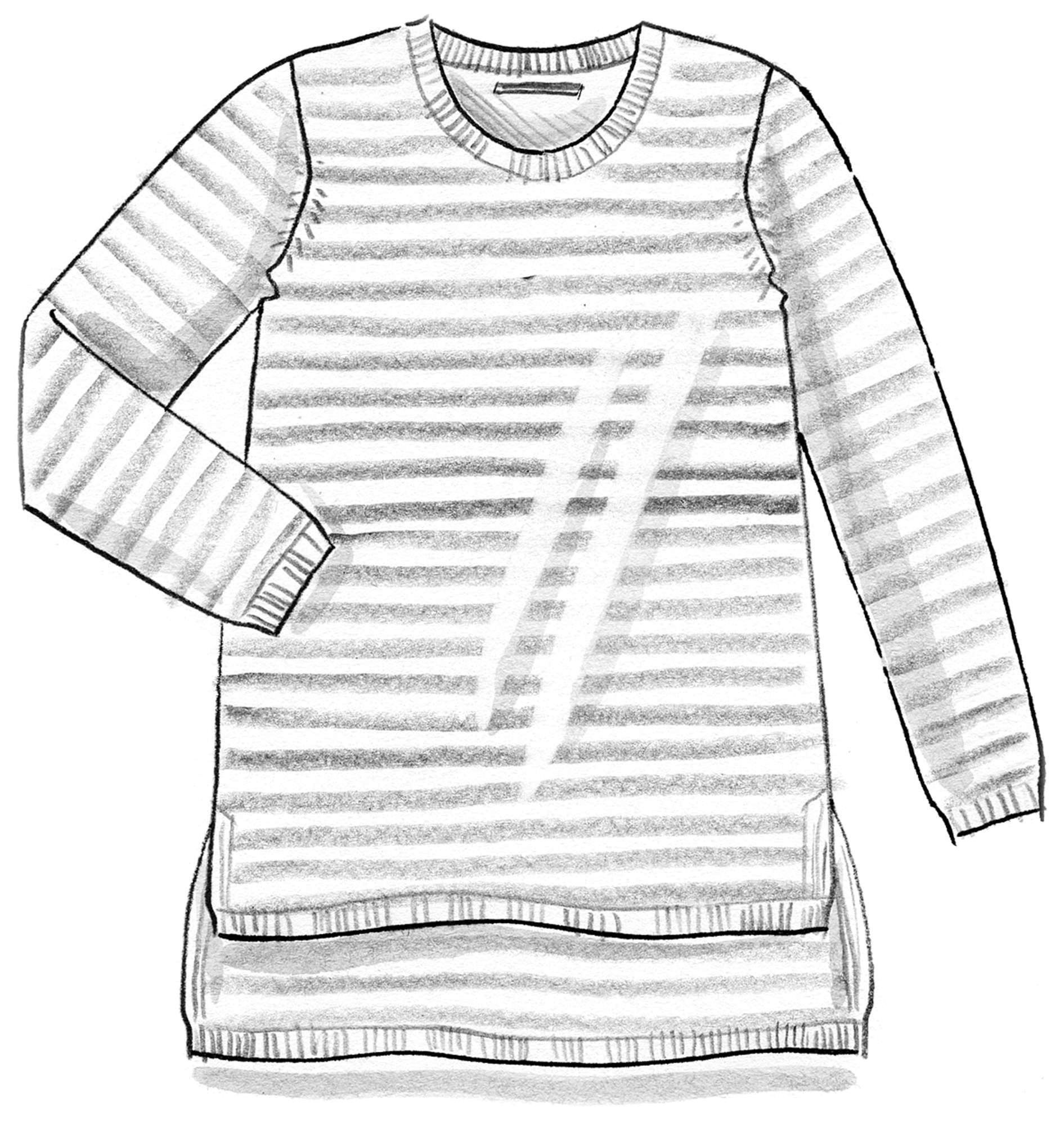 Striped knit sweater in eco-cotton
