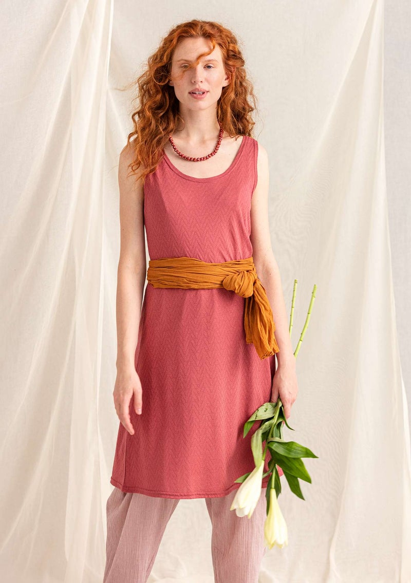 Pointelle dress in organic cotton/modal fig