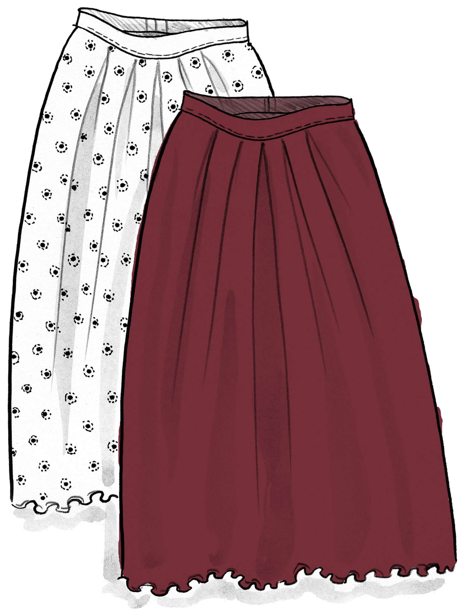 """Twinkle"" modal skirt pomegranate"