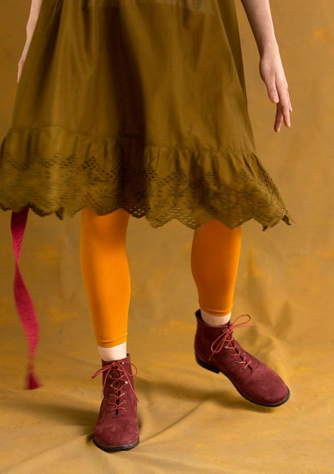 Solid-colored leggings mustard