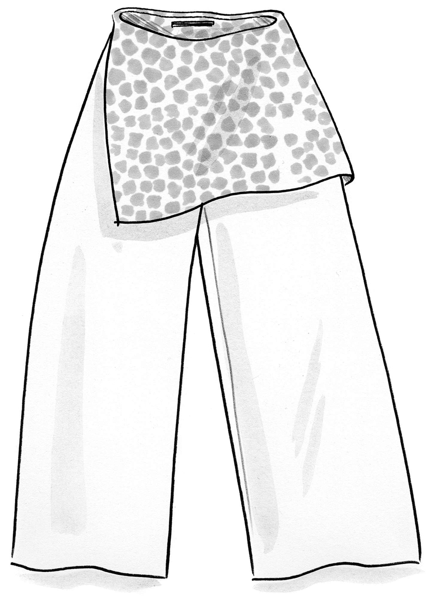"""Pebbles"" trousers in eco-cotton/modal"