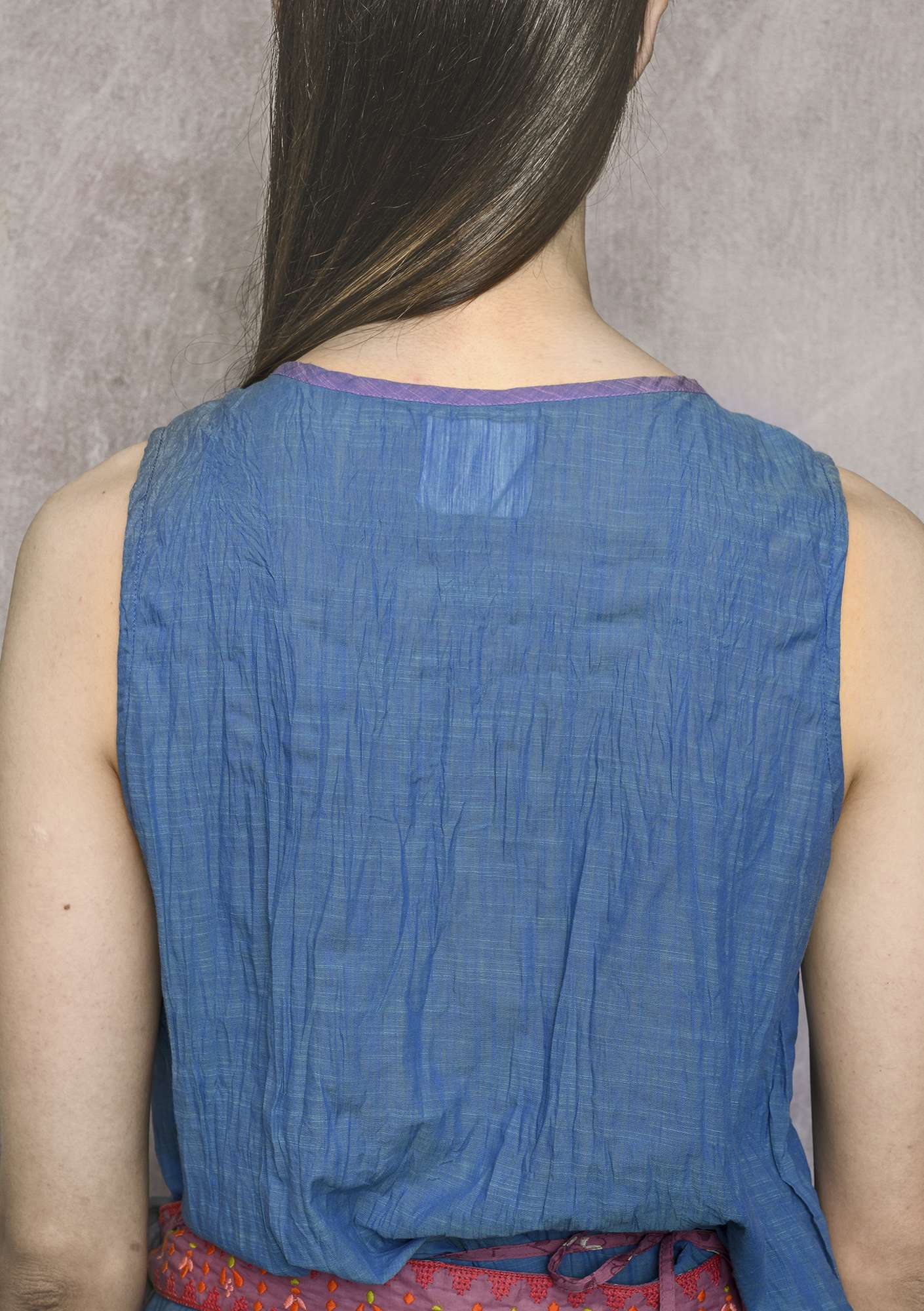 """Kamelia"" organic cotton blouse sky blue"