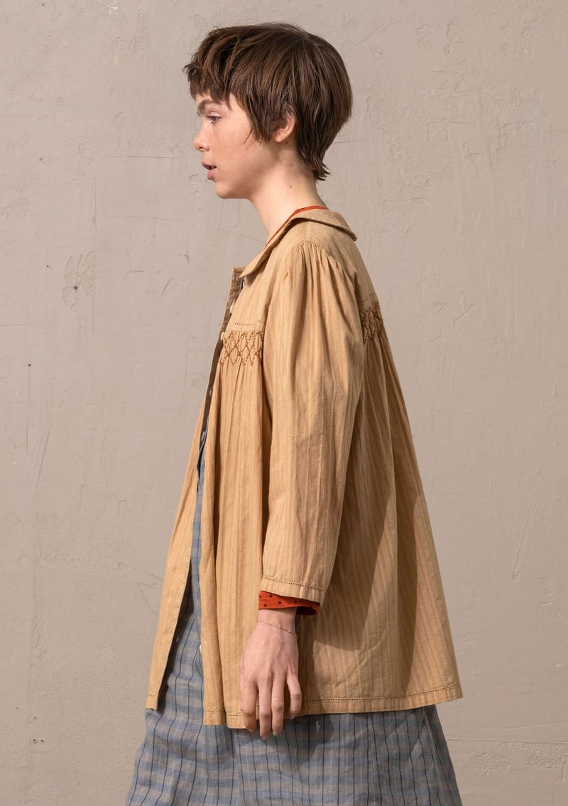 """Fille"" woven blouse in organic cotton rye"