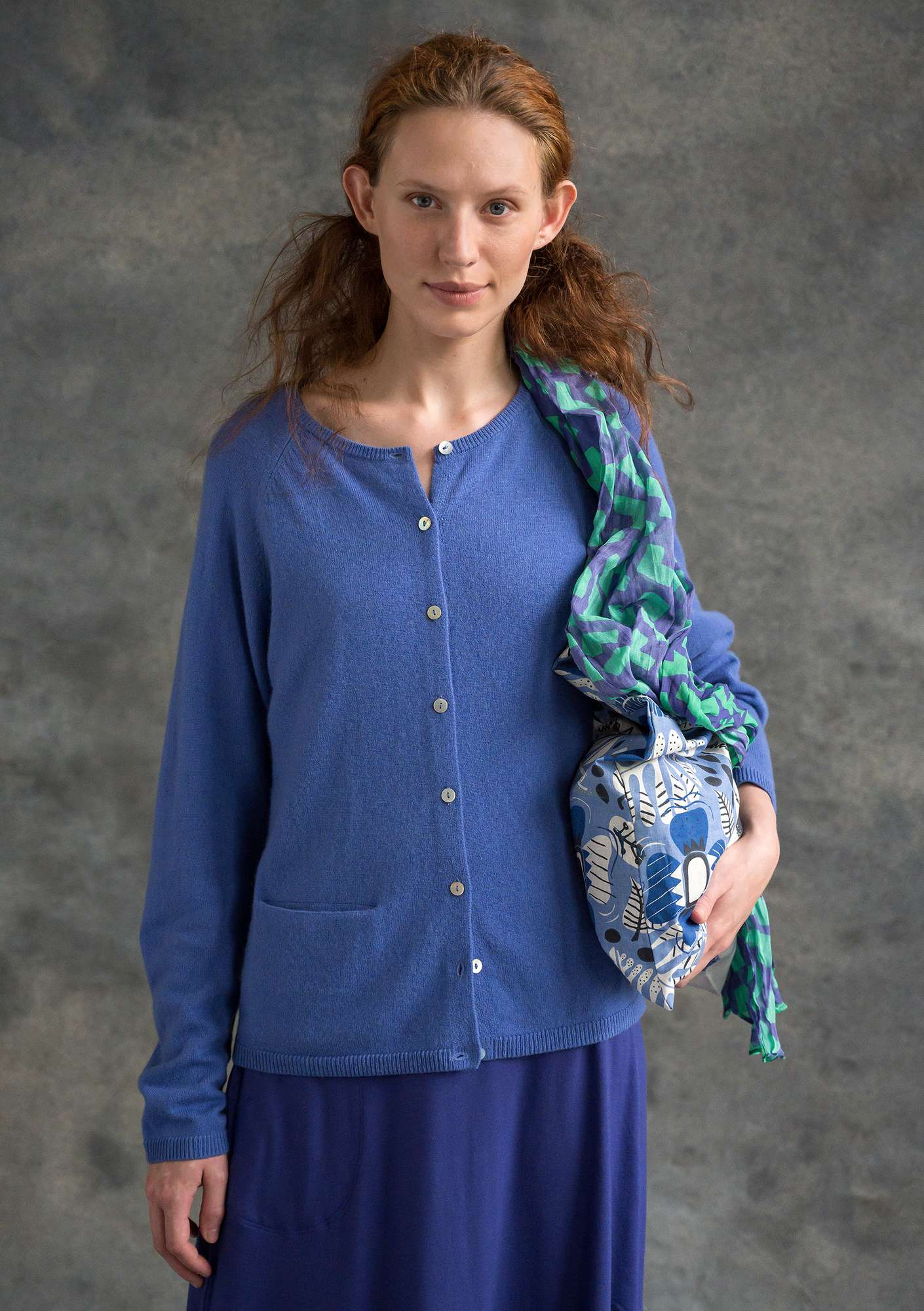 Brilliant cashmere cardigan sky blue