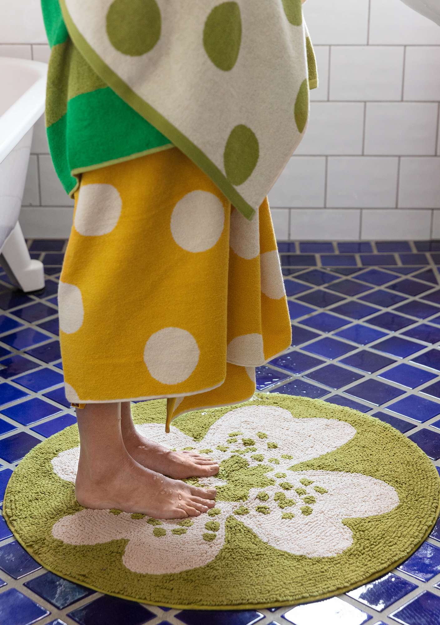 Solig bathroom mat asparagus
