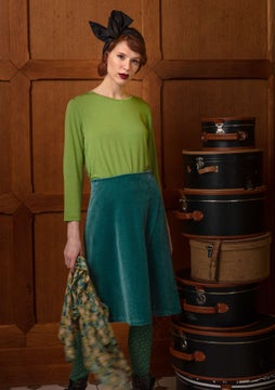 Velour skirt verona green